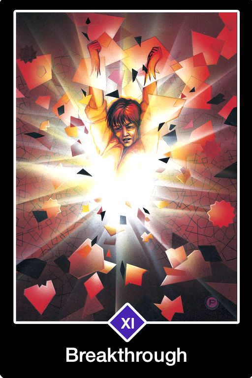 Breakthrough, from the Osho Zen Tarot Card deck, by Osho