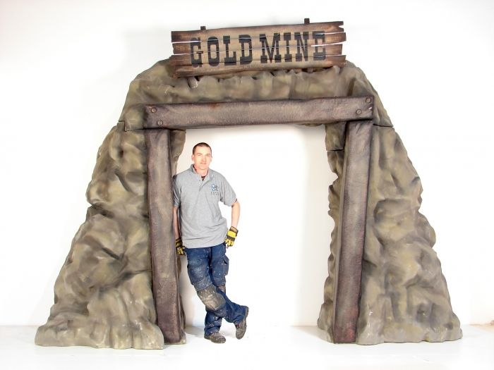 Entranceways for Themed Parties & Event Theming: Gold Mine Entranceway