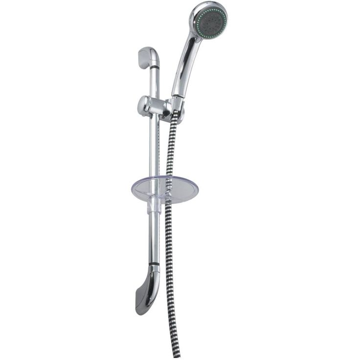 Get the moen chrome handheld showerhead with slide bar at