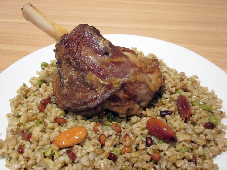 Syrian Foodie in London: Freekeh with Slow Roasted Lamb Shanks