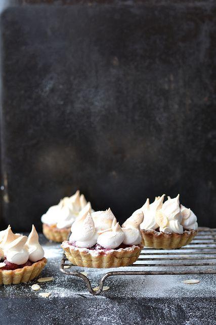 Cherry meringue tartlets
