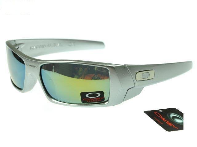 45f6ae9035773 2017 new Oakley Gascan Sunglasses silver frames yellow-blue Iridium on sale  online