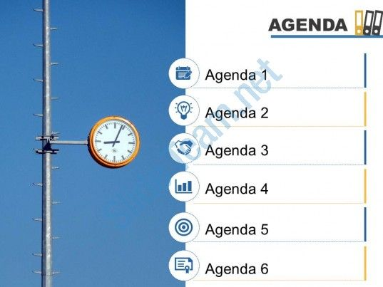 agenda template slide with icons image background powerpoint slide Slide01