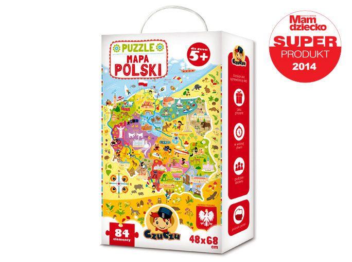 Puzzle mapa Polski 84 elementy
