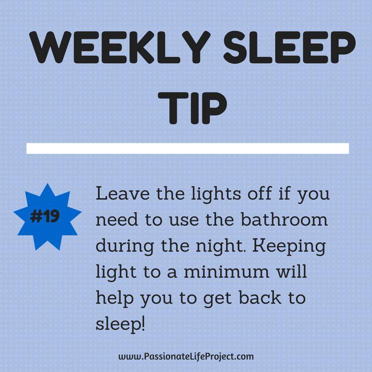 Sleep Tip #19