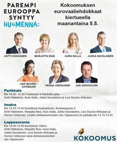 Lisa Sounio-Ahtisaari Itä-Suomessa 5.5. #kokoomus