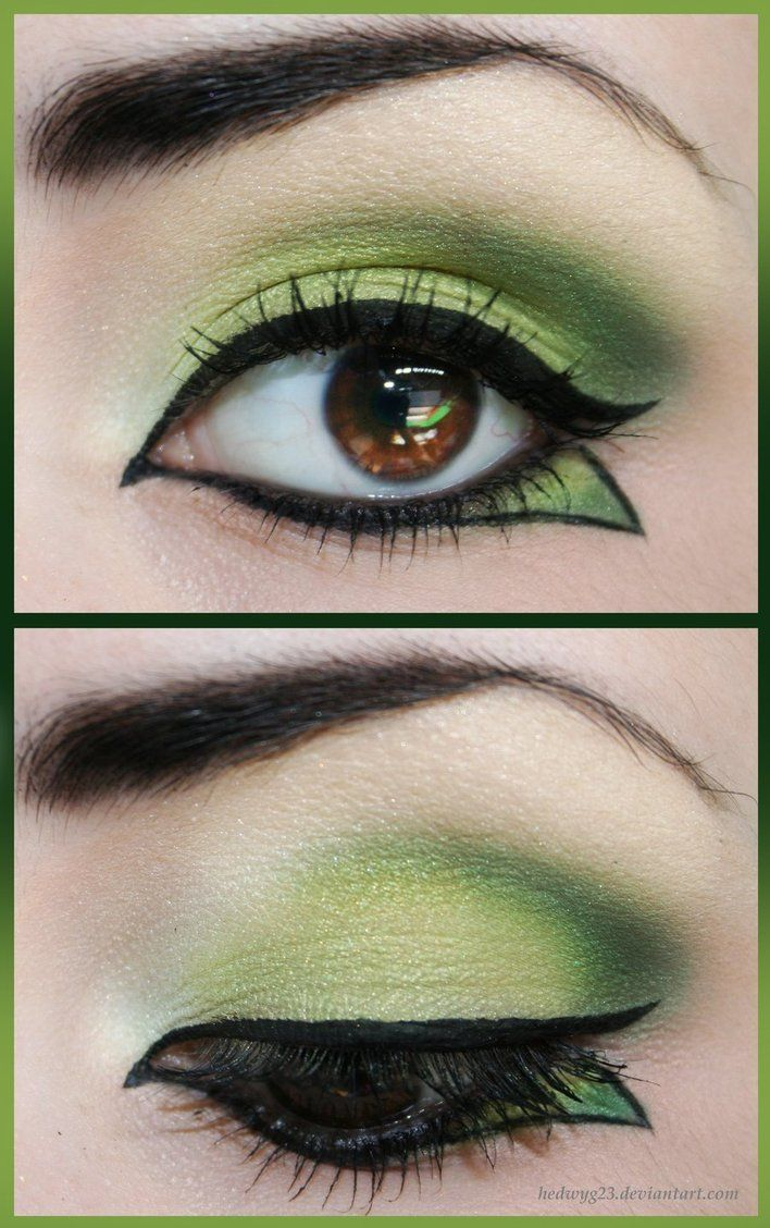 green make up  I don't think I'd be brave enough to wear this, but i really like it.