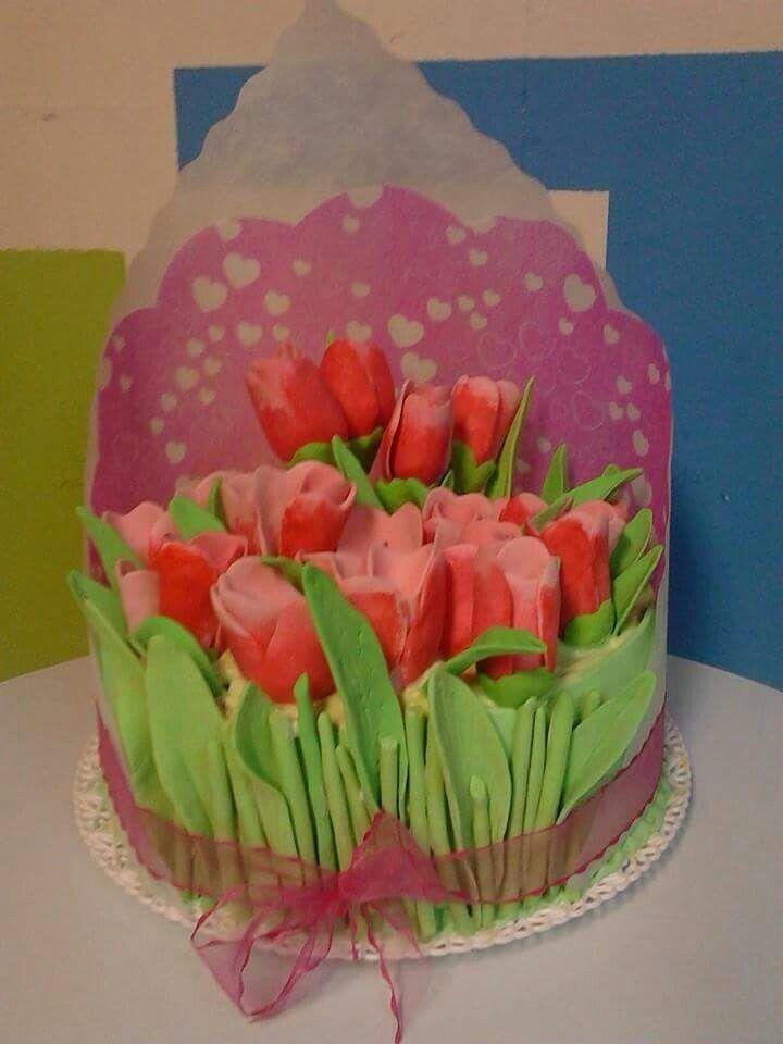 Torta Ramo de tulipanes