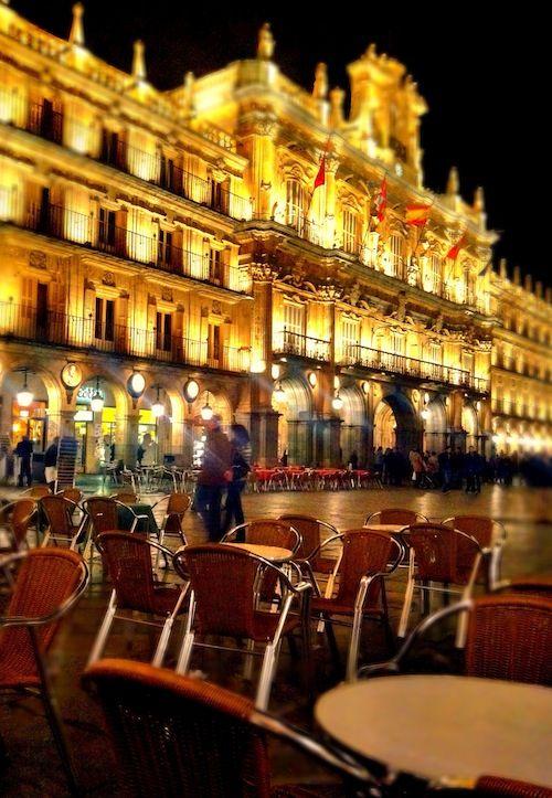 The Town Hall of Salamanca, Plaza Mayor, Castilla Leon, Spain. My beloved Salamanca...