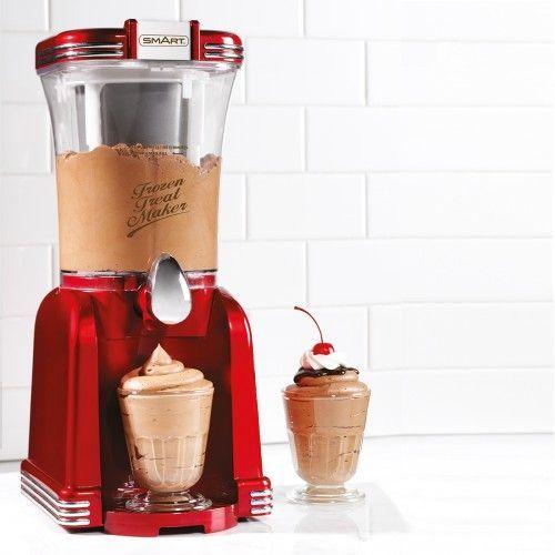 Eine Slush & Soft-Eis Maschine als Geschenkidee für alle Freunde der 50er Jahre und alle die gerne leckeres Eis essen oder auf originelles Design stehen.