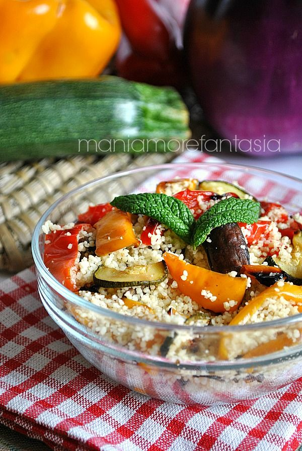 Couscous vegetariano con ortaggi estivi | ricette light |