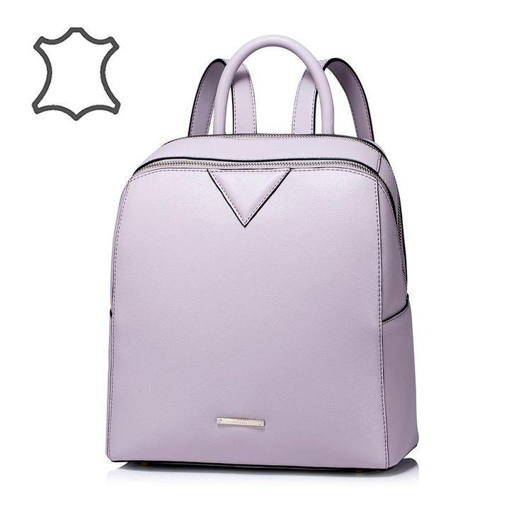 Nucelle halvány lila bőr hátizsák - Mary