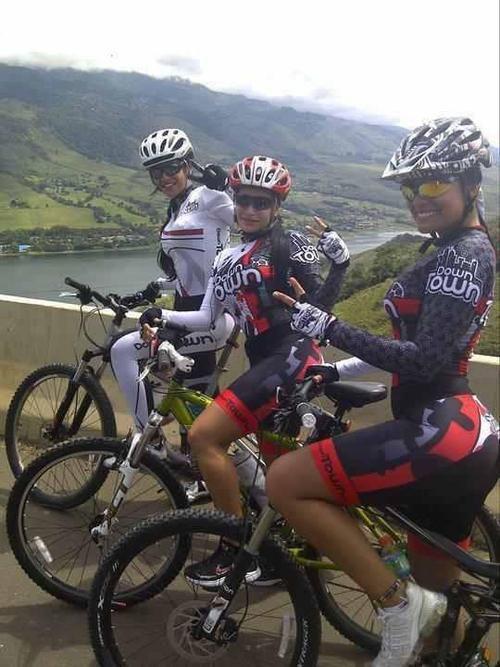 Girls like mountain biking