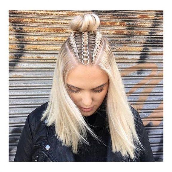 Platinum Blonde Dutch Braids Tumblr Hair Tumblr Braids Hair Goals Space Bun Hair Goals Braid Inspo Hairstyles Hair Styles Braided Hairstyles Hair Rings