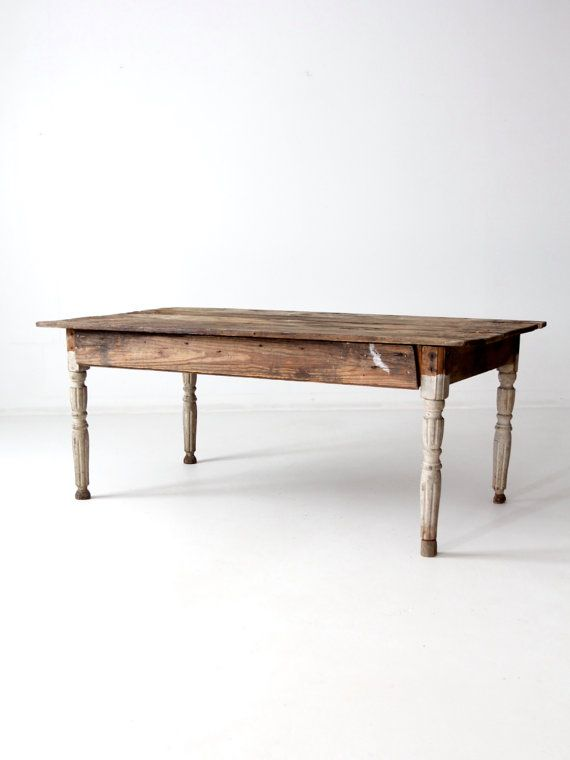 antique American farm table by 86home on Etsy
