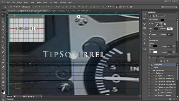 Create Some 3D Reflective Text. Animating 3D text in Photoshop CS6 is easy! But, #photoshop #tutorialsphotoshop #3D