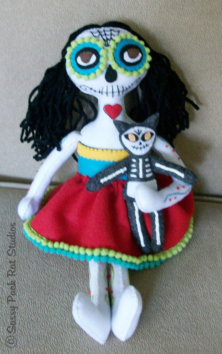 1000 images about day of the dead dolls on pinterest for Day of the dead arts and crafts