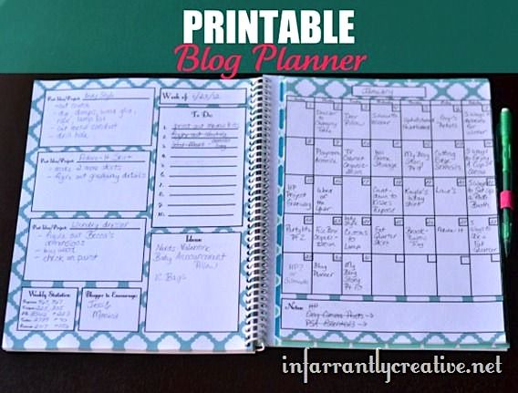 Printable Blog Planner - for the blog I want to make someday.