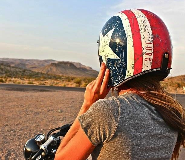 Rebel Star Helmet – $100 I don't have a bike but now I want one.