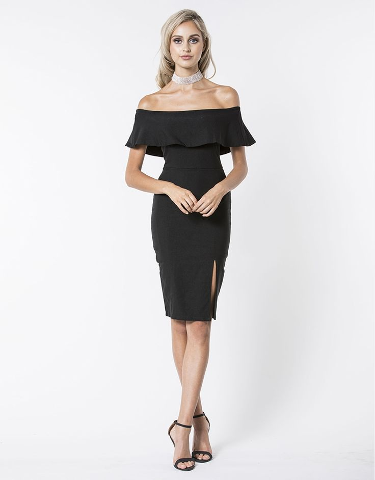 Black lace cocktail dress australia