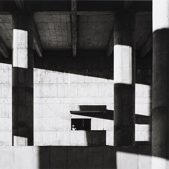 by Lucien Hervé Le Corbusier, Façade of the Secretariat Building, Chandigarh, India, 1961.