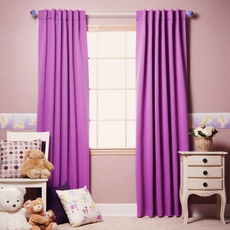 Sweet Violet Bedroom Curtain Photos Collection : Charming Violet Bedroom  Curtain With Light Pink Wall Painting