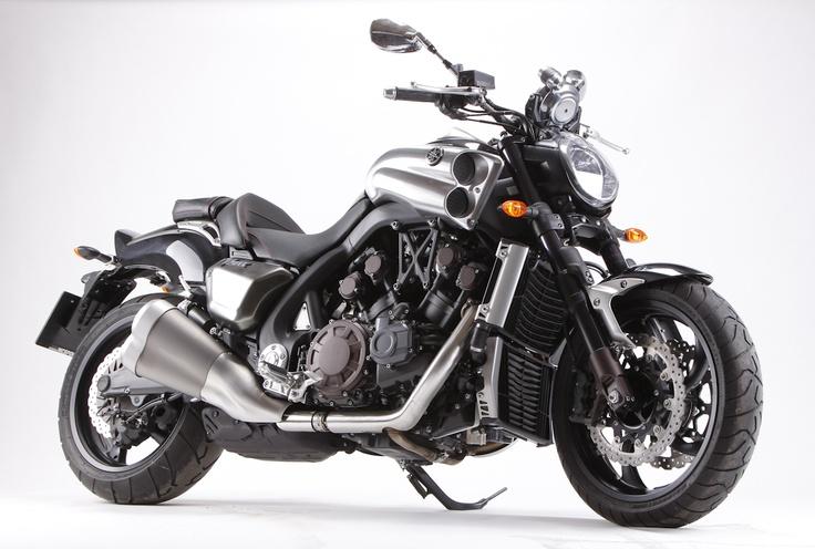 VMAX Yamaha cruiser motorcycle, 1679 cc V4 engine, 200 HP.