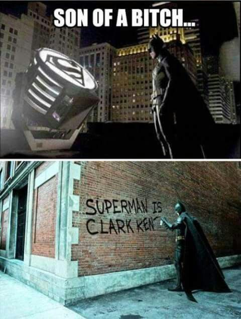 Batman vs superman meme