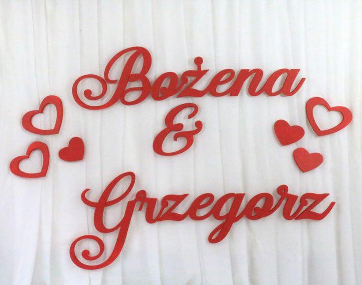Imiona na ściankę Bożena&Grzegorz