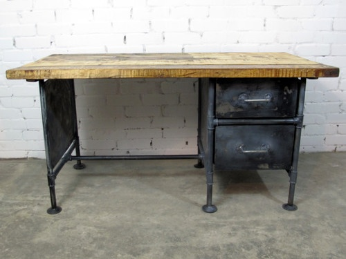 Schreibtisch industrial  Werktisch Werkstatt Tisch Industrie Schreibtisch BAUHAUS LOFT ...