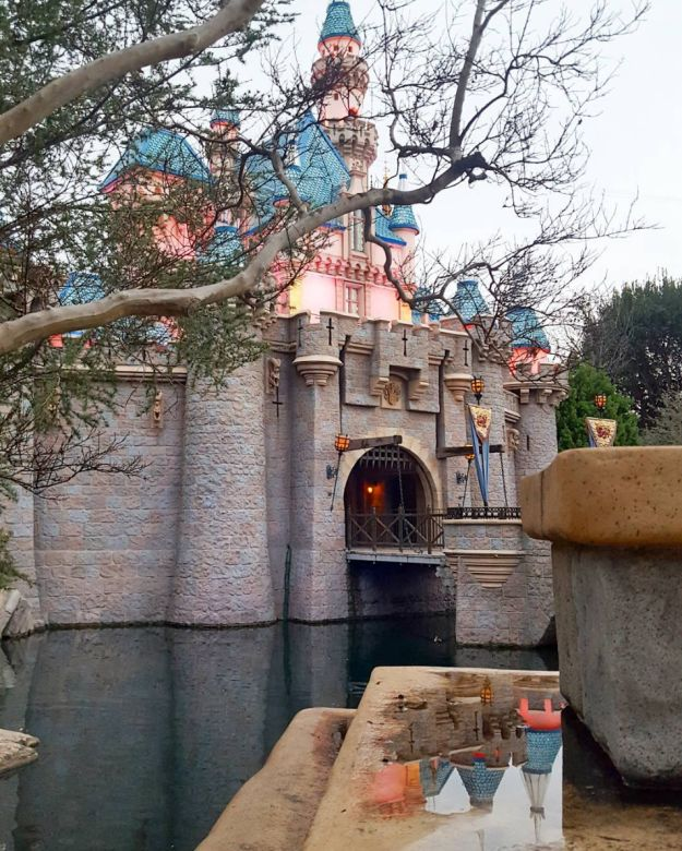 """Sleeping Beauty Castle has a real working drawbridge, but it has only been raised and lowered twice. 