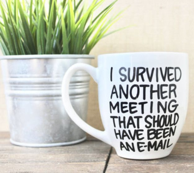 This mug for a boss that would NEVER make you do anything pointless. | 25 Gifts For The Most Sarcastic Person You Know