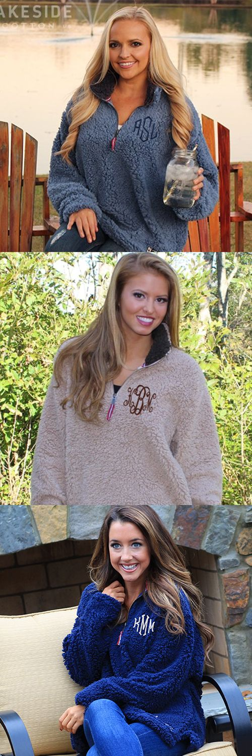 APPALACHIAN PILE PULLOVER Now available in Washed Blue or Tan. Large with Monogram