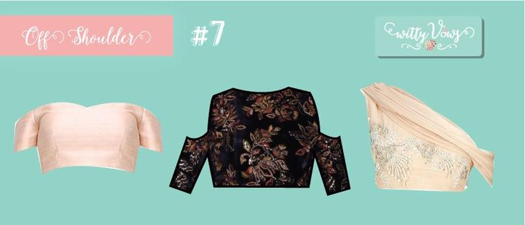 New Blouse Styles for lehengas and latest saree blouses to flaunt your best features | New Trending Indian Blouse Styles for Indian Weddings | Sexy blouse New Blouse Styles for sarees and latest blouse for sarees for every Indian Girl by body type | Lehenga Blouse style | blouse ideas | Saree Blouse | Peach and black Off Shoulder blouse indian blouse design ideas