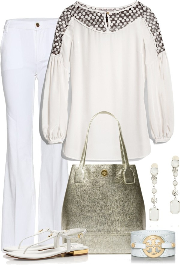 """""""TORY BURCH"""" by lisa-holt ❤ liked on Polyvore"""