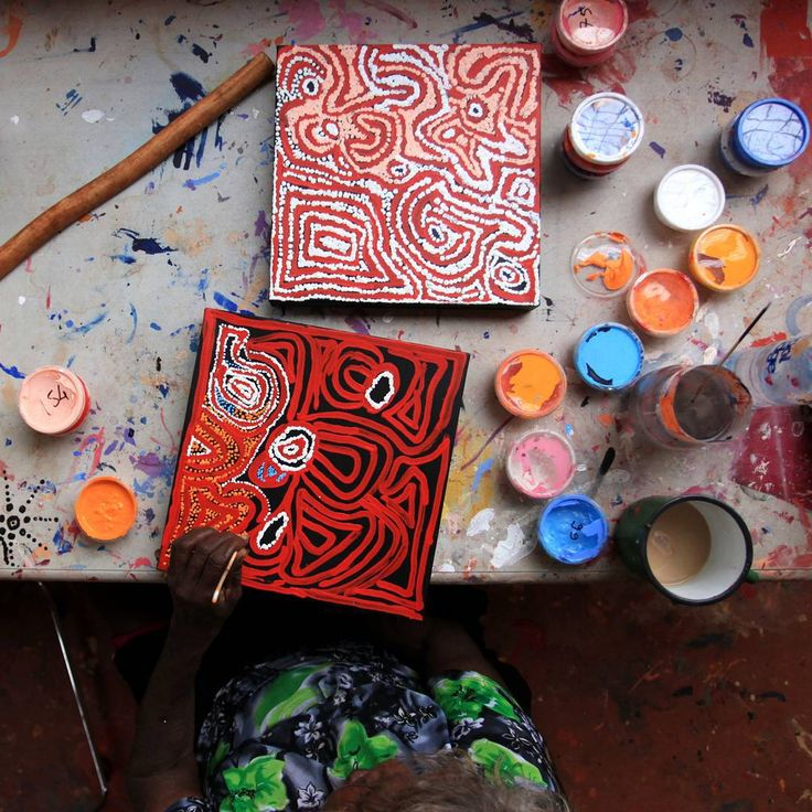 Here's a studio shot from Nyirripi of Mary Napangardi Brown working on two small canvases that I have just loaded onto our homepage at artark.com.au (linked in bio) It has been a real pleasure to work with Mary who otherwise lives in Kintore with her well known husband and Pupunya Tula artist, Ronnie Tjanpijinpa. These two works are the small prestretched variety (30x30cm) so you can hang them straight from the box! $155AUD and free post. Please check out the site for more details about…