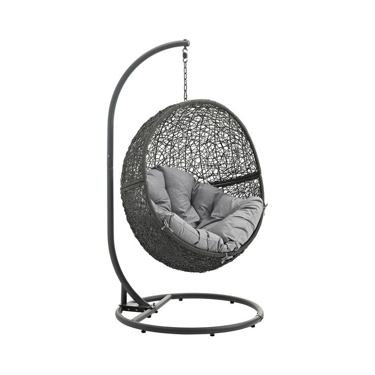 Hide Outdoor Patio Swing Chair in Gray - Modway