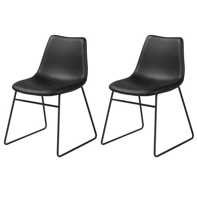 Chaise Gaspard Lot De 2 Noir Rendez Vous Deco La Redoute Decoration Maison Chaise Design Chaise De Salle A Manger