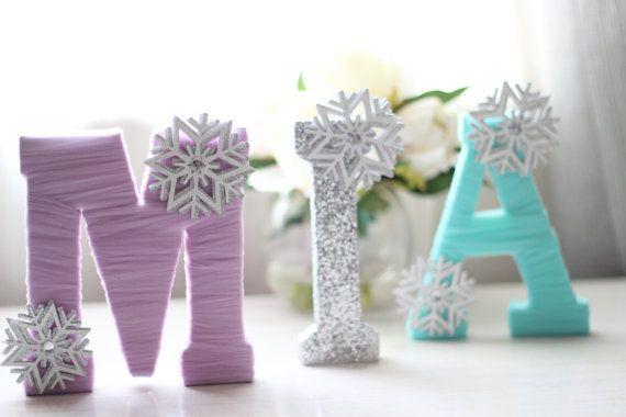 Personalizzato in legno lettere-congelati ispirato o tema