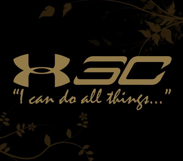 Stephen Curry I Can do all things Decal for your Car, Walls, Laptops, iPhone, iPad and Water bottles.