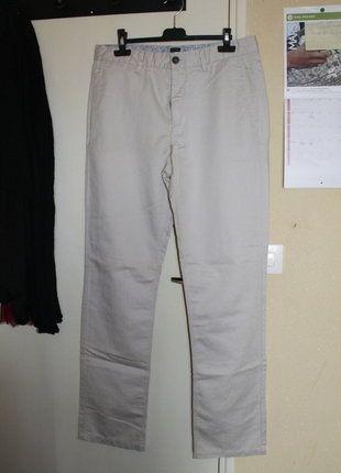À vendre sur #vintedfrance ! http://www.vinted.fr/mode-hommes/pantalons-chinos-and-a-pince/29769783-pantalon-en-lin-beige-burton-homme