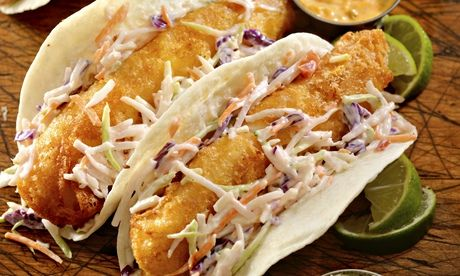 Crispy fish tacos are Mexican-influenced midwestern cuisine. Photograph: Getty Images/Lauri Patterson