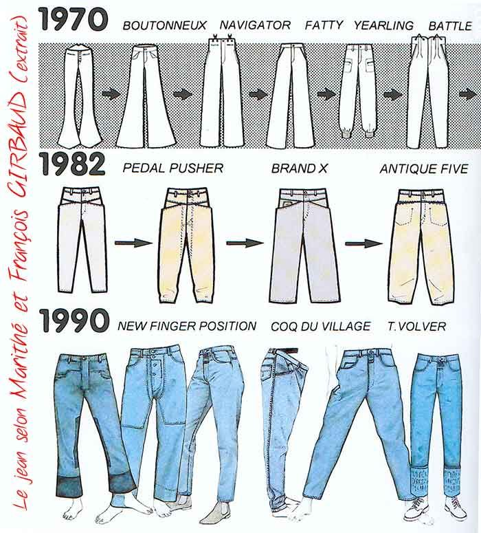 Marithe et Fran�ois Girbaud style of jeans