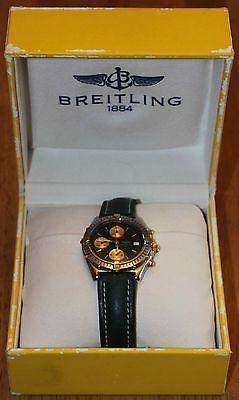 Breitling 1884 Chronomat Men's Wrist Watch RARE Green Face (Pre-Owned)