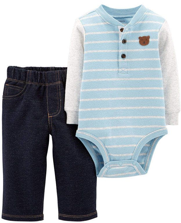 Simple Joys by Carters Baby-Jungen 4-Piece Jacket Pant and Bodysuit Set