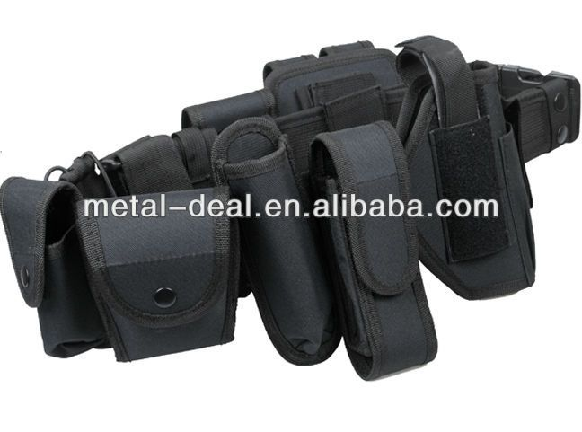 Tactical Nylon Security Police Duty Belt Set Holster Pouch $11.4~$13.40