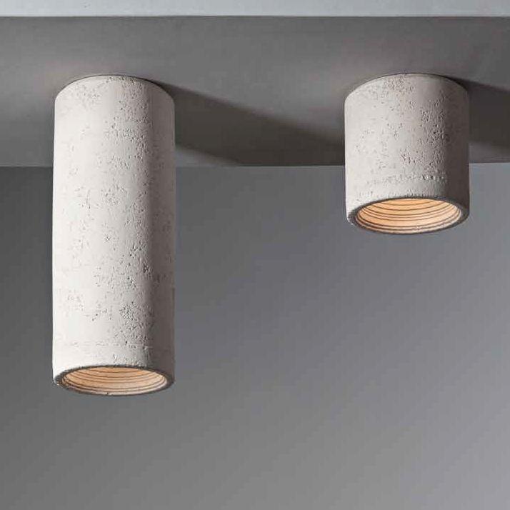 Zylinderformiger Aufputz Deckenspot In Keramik Beleuchtung Decke