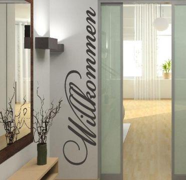 topdesignshop Wandtattoo Aufkleber und Gravuren Shop - Wandtattoo Willkommen Dekoration Wand Aufkleber
