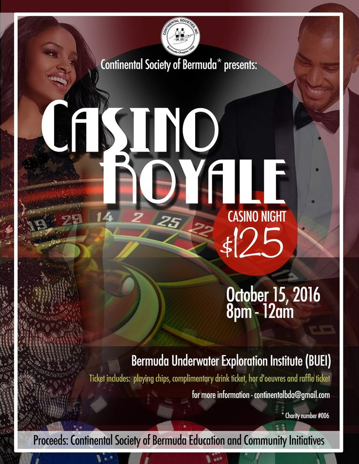 The Continental Society's next fundraising event later this month should be a sure bet.Casino Royale — a night of gambling, games and entertainment