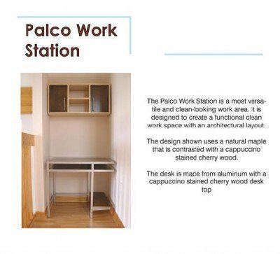 Logical Progression Palco Computer Desk by Logical Progression. $1954.00. The Palco desk is designed to create an architectural backdrop for your work station. The design shown uses a natural maple that is contrasted with a cappuccino stained cherry wood.